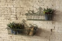 S/2 Wire Wall Planters $128.00