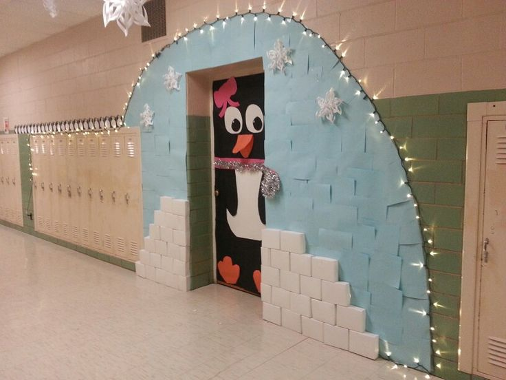 My classroom for the Winter Door Decorating contest