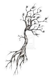 tree tattoo design meripihka