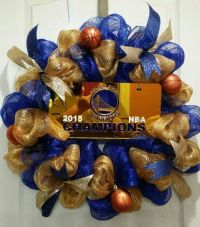Warrior's Basketball Wreath! (Golden State) made out of ...