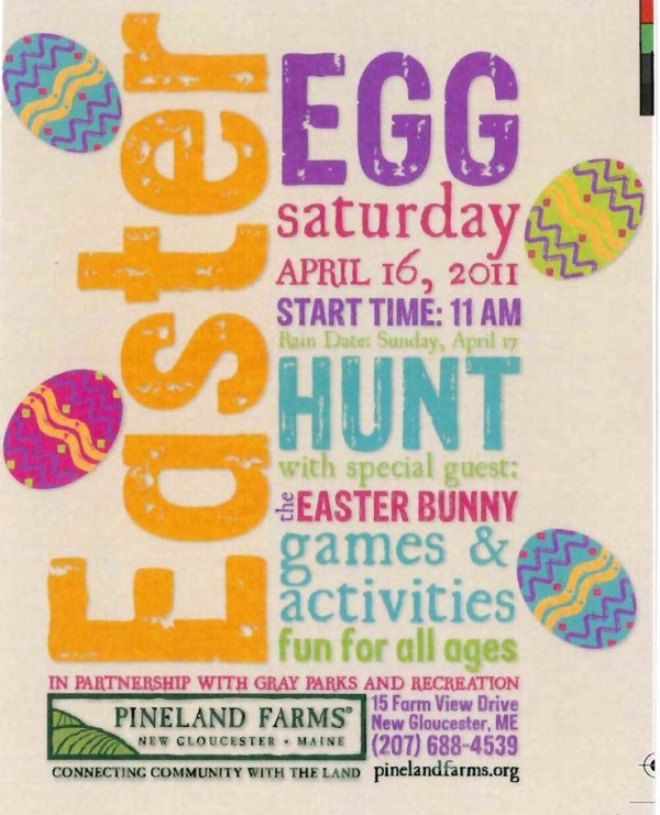 Easter Egg Hunt flyer Easter block party Pinterest