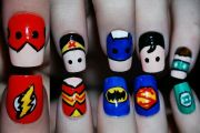 superhero nails flash