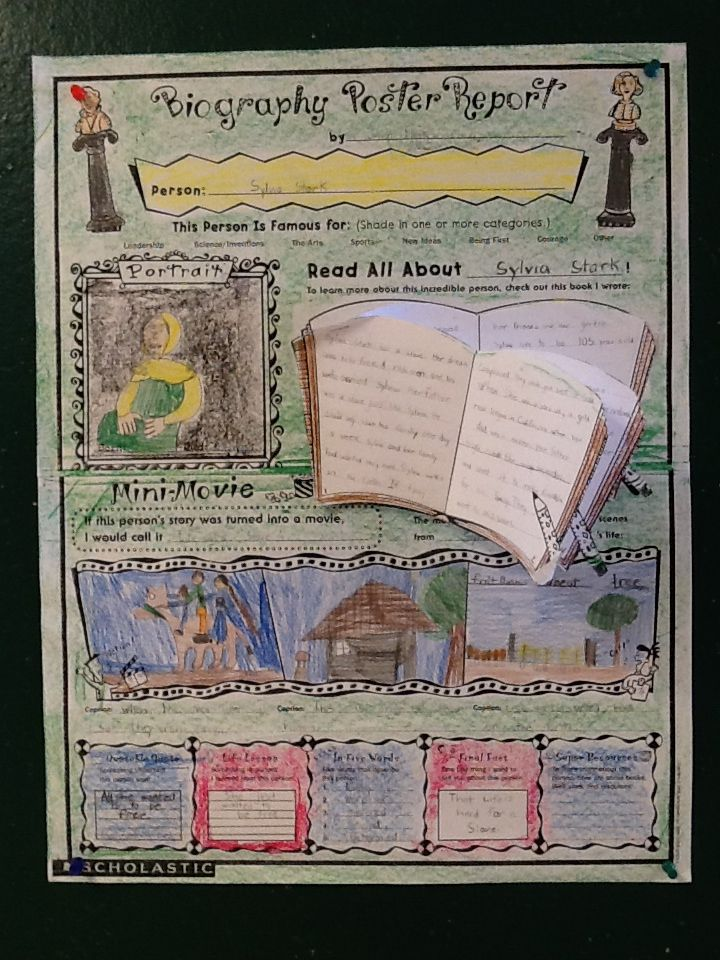 Gr 2 Biography Poster Projects Ideas From My Classroom