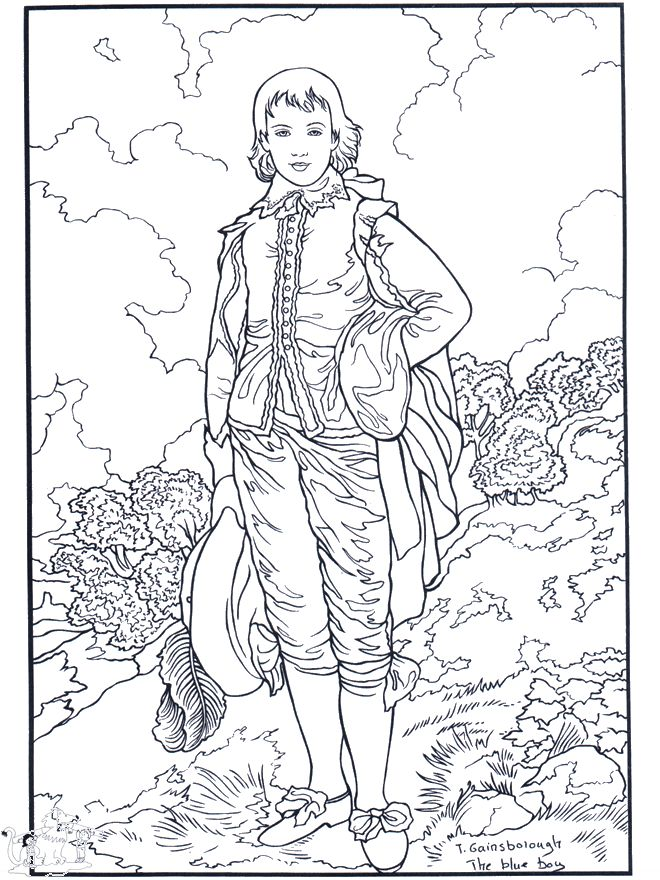 Amazing printable coloring pages including works from