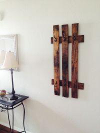 DIY pallet coat rack:) | DIY | Pinterest | Coats, The o ...
