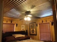 Barn tin ceiling that hubby put in.. | bedroom | Pinterest ...
