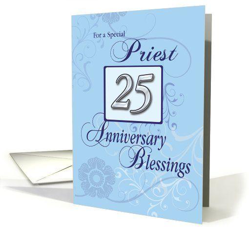 Priest 25th Anniversary Of Catholic Ordination Silver