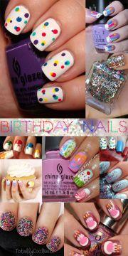 ideas birthday nail