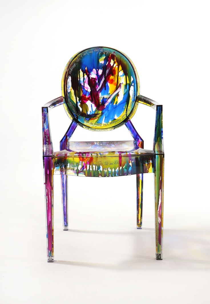 Kartell Louis Ghost Chair Multi Coloured by Philippe Starck  Furnitures  Pinterest  Ghost
