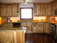 hickory cabinets/darker floor?? | Kitchen | Pinterest ...