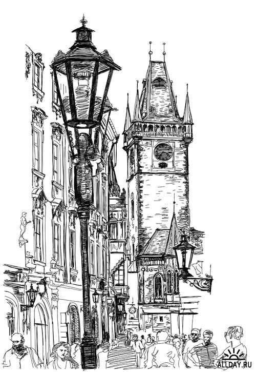 30 best images about Urban/Landscape Drawing Tutorials on
