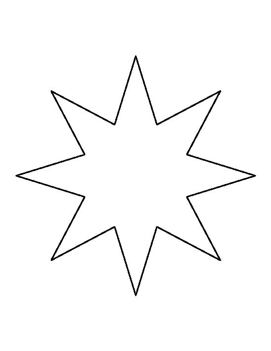 Eight Point Star Pattern Use The Printable Outline For