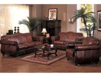 french country living room decor leather | Leather Living ...