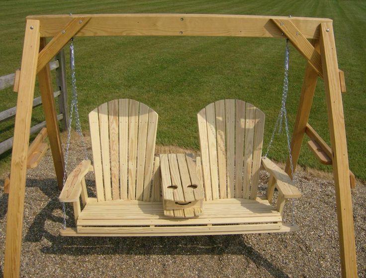 Jake S Amish Furniture 5 Adirondack Swing With Fold