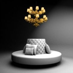 Living Room Chair With Ottoman Dining Covers Amazon Uk Sofa Lamp 3d Model - Round By 3devent | Nightclub Pinterest Walk In, Closet ...