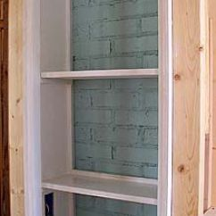 Kitchen Makeover Ideas How To Remodel A Small Built In Shelves For Bathroom, Might Work Behind Mirrors ...