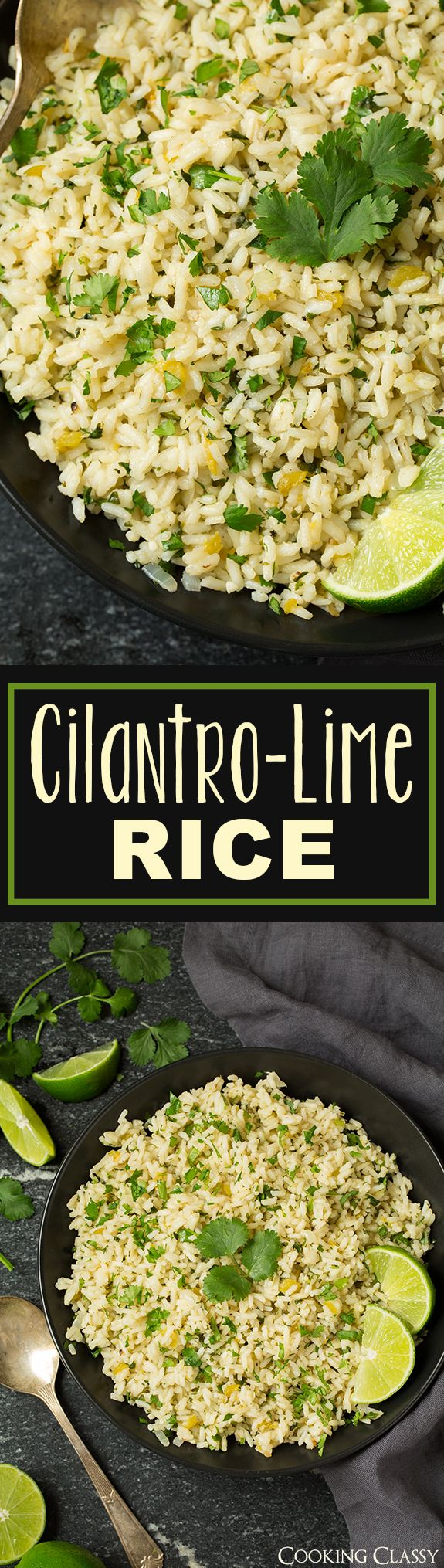 Cilantro Lime Rice – I can never get enough of this stuff! I crave it all the time! Perfect side for just about any Mexican or