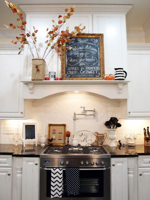 Kitchen Decor Love The Shelf Above The Stove Kitchens