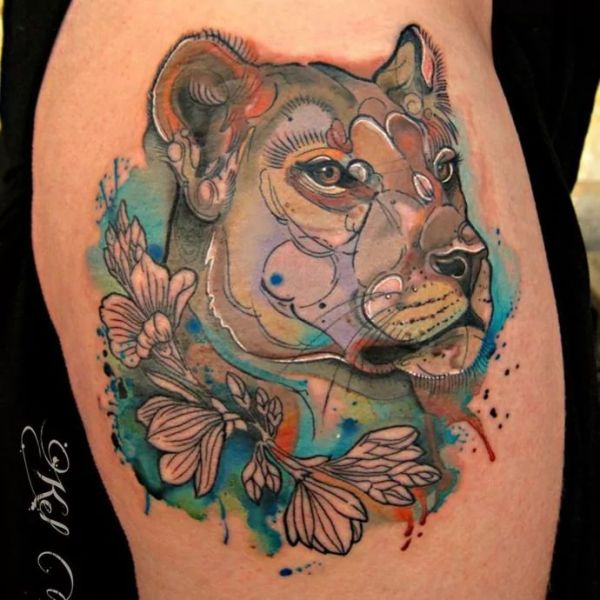 20 Lioness Love Tattoos Ideas And Designs