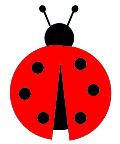 ladybug cut pattern paper