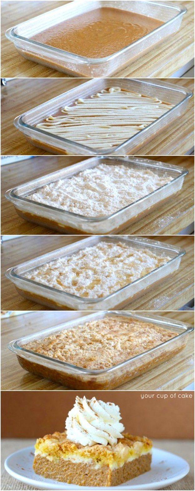 Pumpkin & Cream Cheese Dump Cake | 19 Deliciously Easy Dump Cake Recipes
