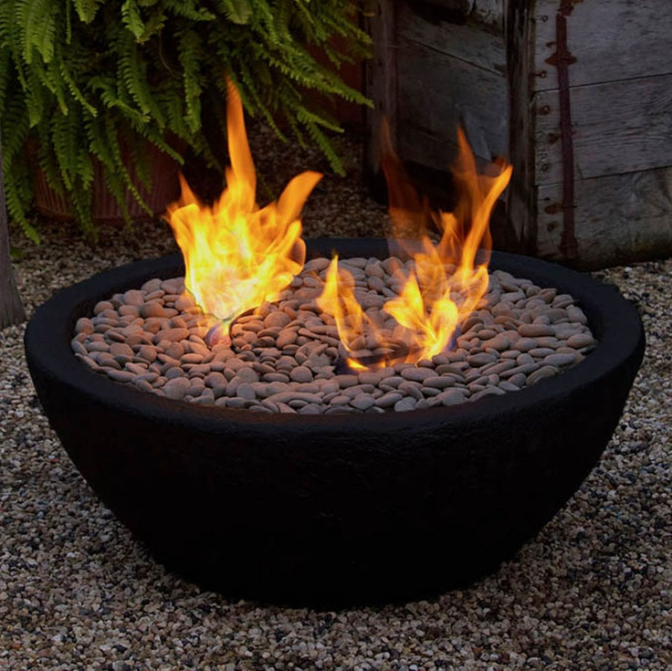 DIY Personal Firepit Use Premade Bowl Willed With Rocks