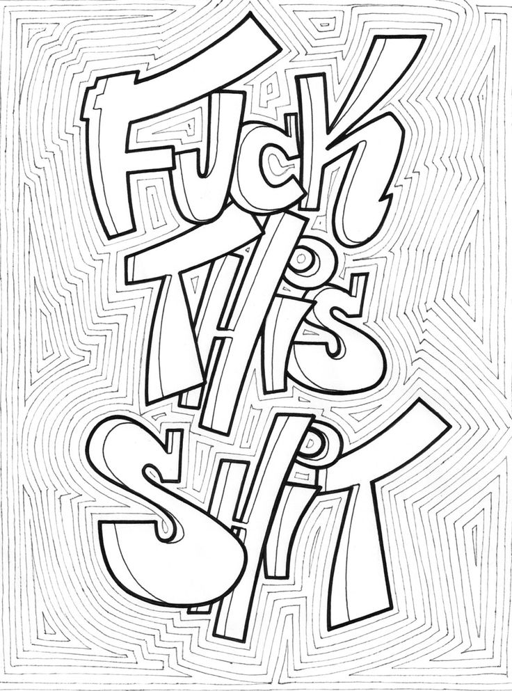 Adult Profanity Coloring Printable Pictures to Pin on