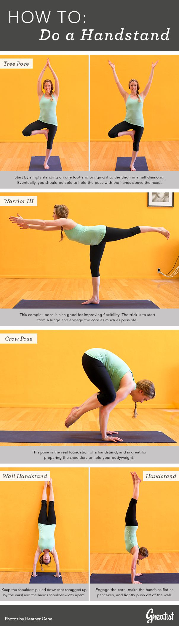 How to do a handstand…and all of the poses that lead to it are ones that I struggle with too!