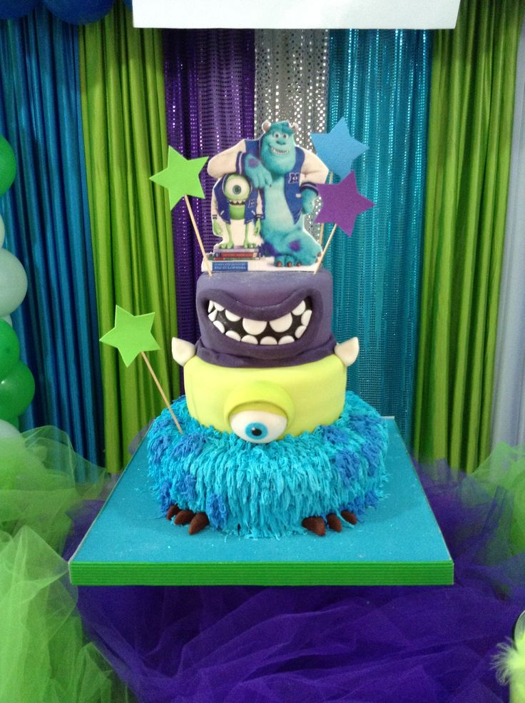 Monster Inc Cake Torta Monster Inc Mis Creaciones