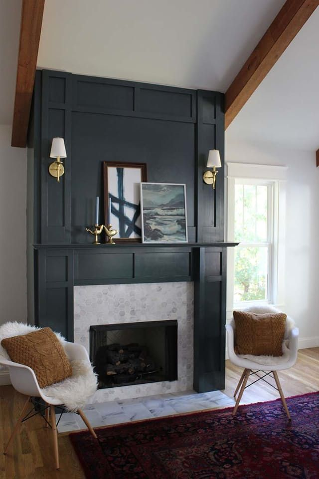 Best Stain For Fireplace Mantel How To Diy A Fake Fireplace (or Dress Up The Real One You