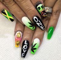 25+ best ideas about Rasta nails on Pinterest | Bob marley ...