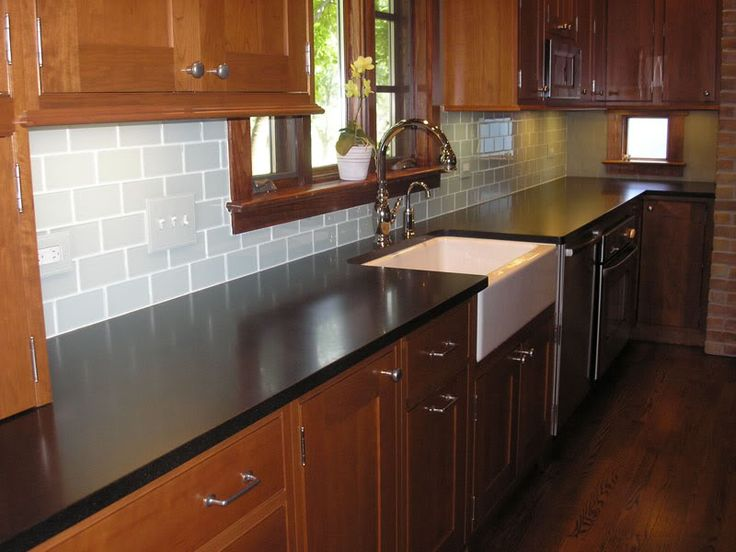 unpainted kitchen cabinets repair moen faucet chosing a backsplash with black granite counters ...