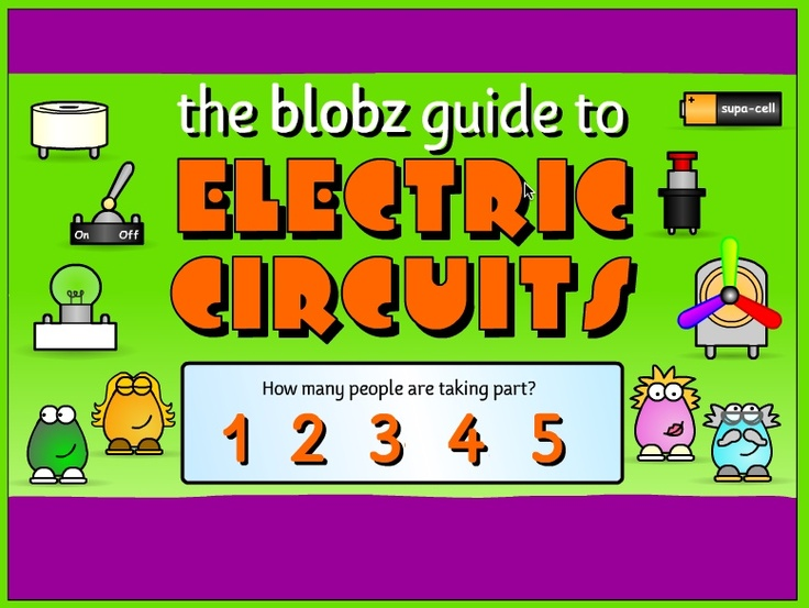 Blobz Guide To Electric Circuits Is A Fun Little Interactive For Kids