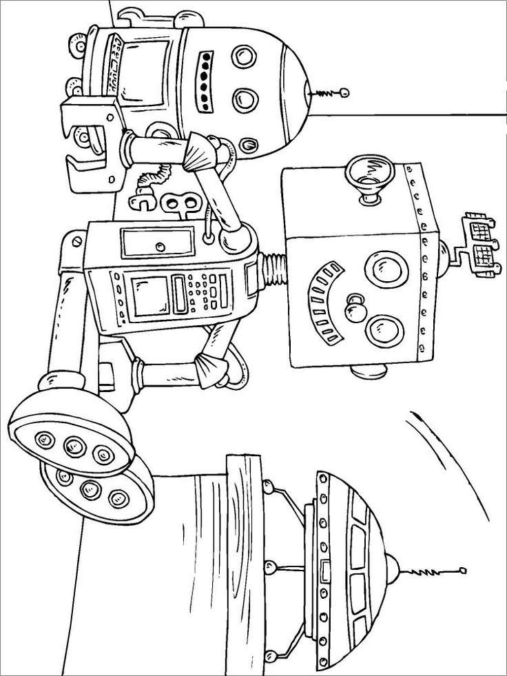 1000+ images about coloring pages 35 (robot) on Pinterest