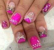 leopard print & pink with bling