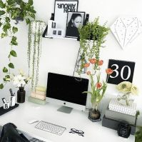 25+ best ideas about White office decor on Pinterest ...