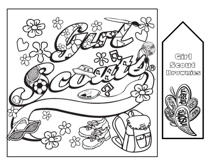 Girl Scout Law Book Coloring Pages