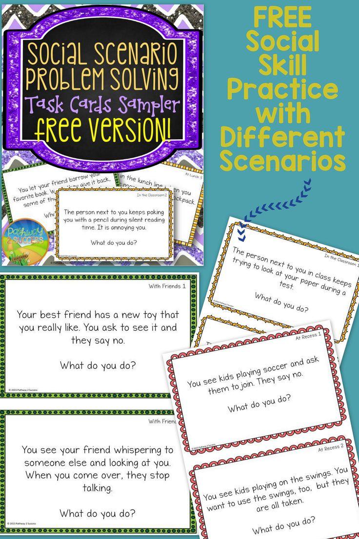 FREE Social Scenario Problem Solving Sampler 10 Fun Task