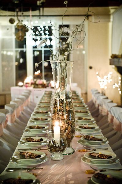 Silver Winter Wedding Decorations Bells