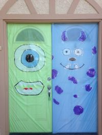 Mike and Sully Halloween doors