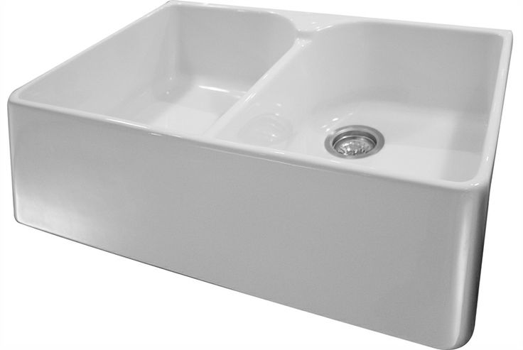 Neptune Ceramic Double Bowl Sink With Wastes