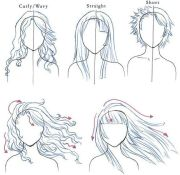 curly straight hair flows