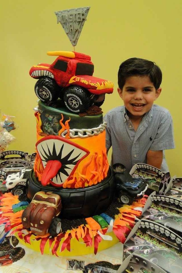 Monster Jam Cake Franco Amp Renzo B Day Pinterest