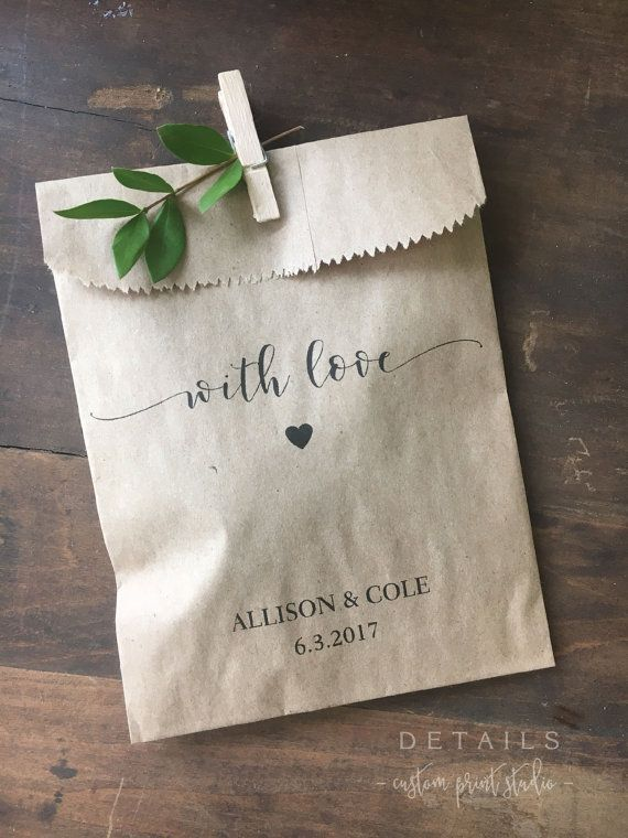25 best ideas about Wedding Favor Bags on Pinterest