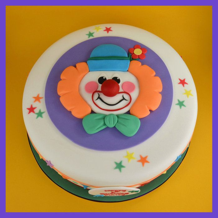 Clown cake  cakes and cake decorating  Pinterest
