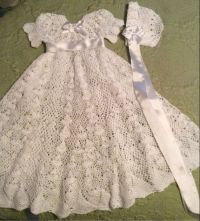 109 best images about Crochet Christening Gowns on Pinterest
