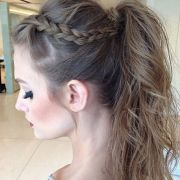 fancy ponytail prom