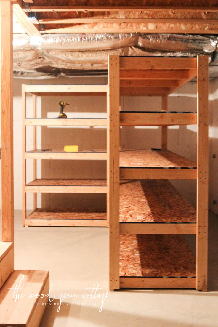 25 Best Ideas About Basement Shelving On Pinterest