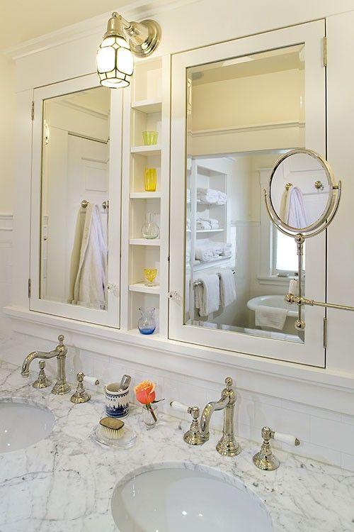 25 best ideas about Recessed medicine cabinet on Pinterest  Diy cabinet door storage Bathroom