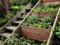 stairs next to tiered garden (to build on a hill) | Home ...